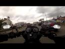 Через пробки на мотоцикле при выезде из Одинцово