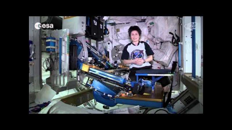 Allenarsi nello spazio con Samantha Cristoforetti!