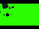 Meteor Floating - Royalty Free Green Screen Animation