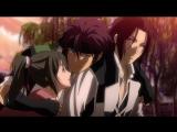 Вырезка из аниме Hakuouki Сказание о демонах сакуры