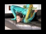 Contortionist Breaking Flexibility Record in Leotard