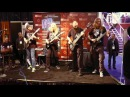 Keith Merrow, Jeff Loomis, Ola Englund and Jeff Hughell at the Seymour-Duncan Booth NAMM 2013