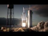 Демонстрация посадки трех ступеней на Землю ракеты Falcon Heavy от SpaceX