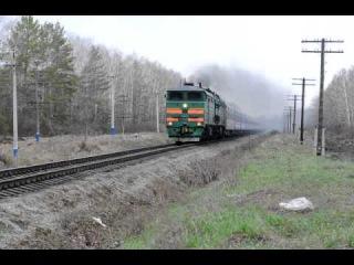 2ТЭ10М-2217 с фирменным поездом №22 Ульяновск