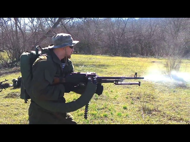 Стрельба из ПКМ ополченца ДНР - Shooting from the PKM cnhtkm,f bp grv jgjkxtywf lyh - shooting from the pkm
