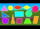 Геометрия для детей Учим плоские геометрические фигуры с паровозиком Чух Чухом