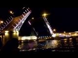 Развод Дворцового моста в Питере!!!