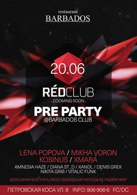 20.06 OPEN AIR - PRE PARTY RED CLUB
