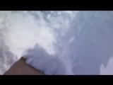 Смешная реакция кота на первый снег