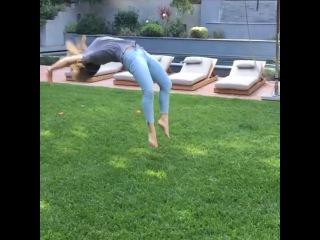 "Hilary Duff on Instagram: ""Backyard shenanigans part 2"""