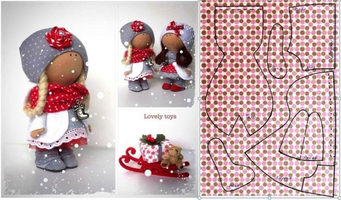 Мастер класс по куклам снежок