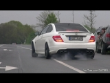 The Most EPIC C63 AMG Exhaust Notes In The World | Мерседес-Бенц, V8, автомобиль, машина, тачка, спорткар