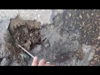 Текущий ремонт дороги на улице М. Горького