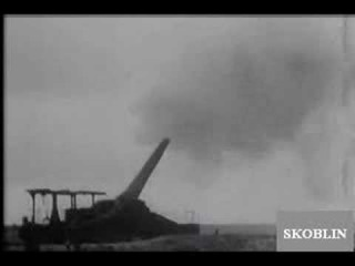 Французская сверхтяжёлая артиллерия на линии Мажино (фрагмент британского выпуска новостей от 11.01.1940)