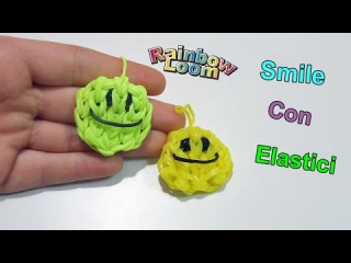 "Tutorial Smile Con Elastici Rainbow Loom ""Smiley Happy Face Charm"""