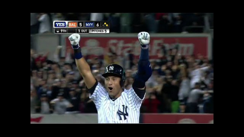Derek Jeter's Game Winning Hit in Last At-Bat at Yankee Stadium