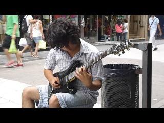 Самый талантливый уличный Мега-Гитарист!!! Смотреть до конца!