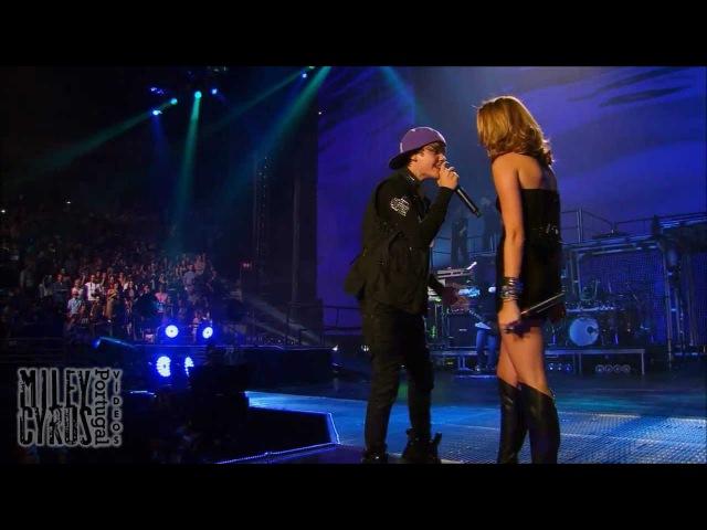 Overboard HD 3D Miley Cyrus Justin Bieber live at ao vivo no Madison Square Garden