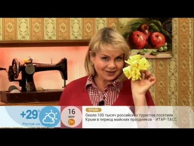 Про цветы из мусорных пакетов.Полезные советы №13.Ирина Ермилова(Первый Канал.Доброе утро)