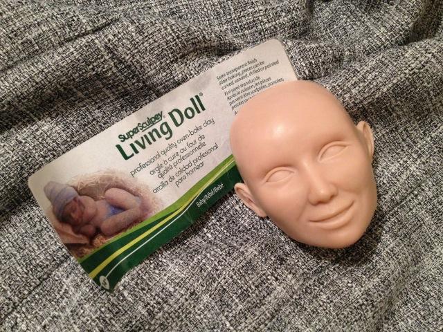 Мастер класс лепка головы куклы из Super Sculpey Living Doll 2