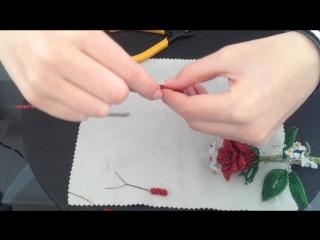 Роза из бисера. Бисероплетение. Часть 1_2