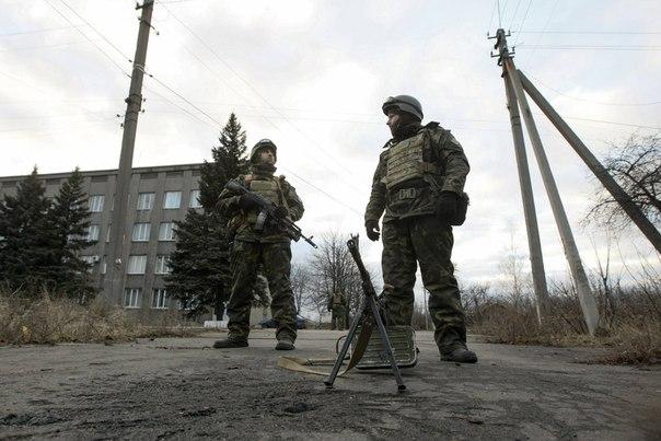 Украинские войска под Дебальцево