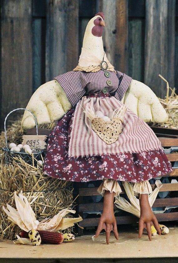 текстильная игрушка курочка