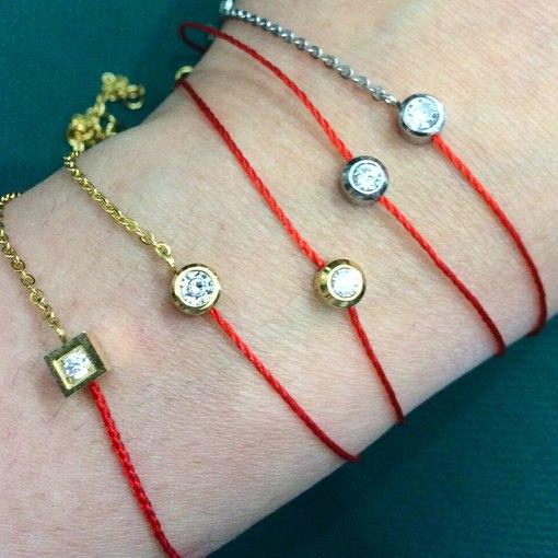 Красный браслет своими руками фото