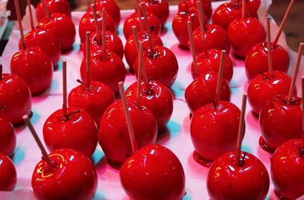 Как сделать яблоки в карамели