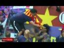 Xavi se enfada con Neymar y lo empuja en la cara│2015