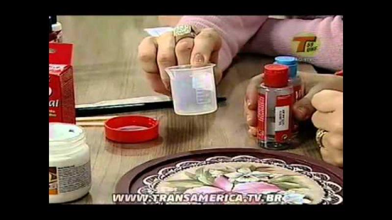 Tv Transamérica - Técnica: Vitrinificação - Verniz Vidro Crytal Acrilex