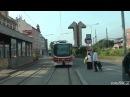 Вид из кабины трамвая в Праге, снятый водителем. Маршрут № 6.