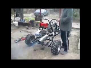 Багги с двигателем от скутера своими руками 80