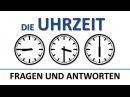 Deutsch lernen: die Uhrzeit (Fragen und Antworten) (deutsche Untertitel)/the time (QA)