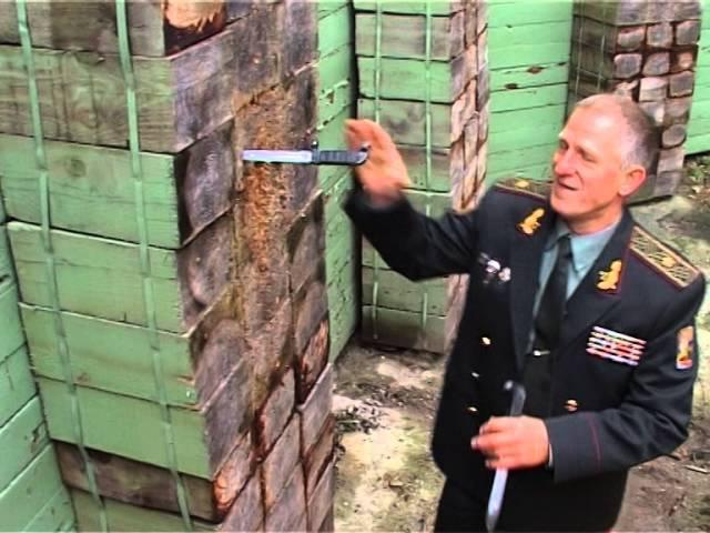 Легенда спецназа генерал Константин Сирык метает ножи