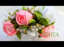 🌺 Чайные Розы канзаши из Лент / 🌺 Tea Roses kanzashi ribbons