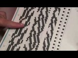Набираем узорный жгут из бисера крючком Gaining the wiring patterned beaded crochet