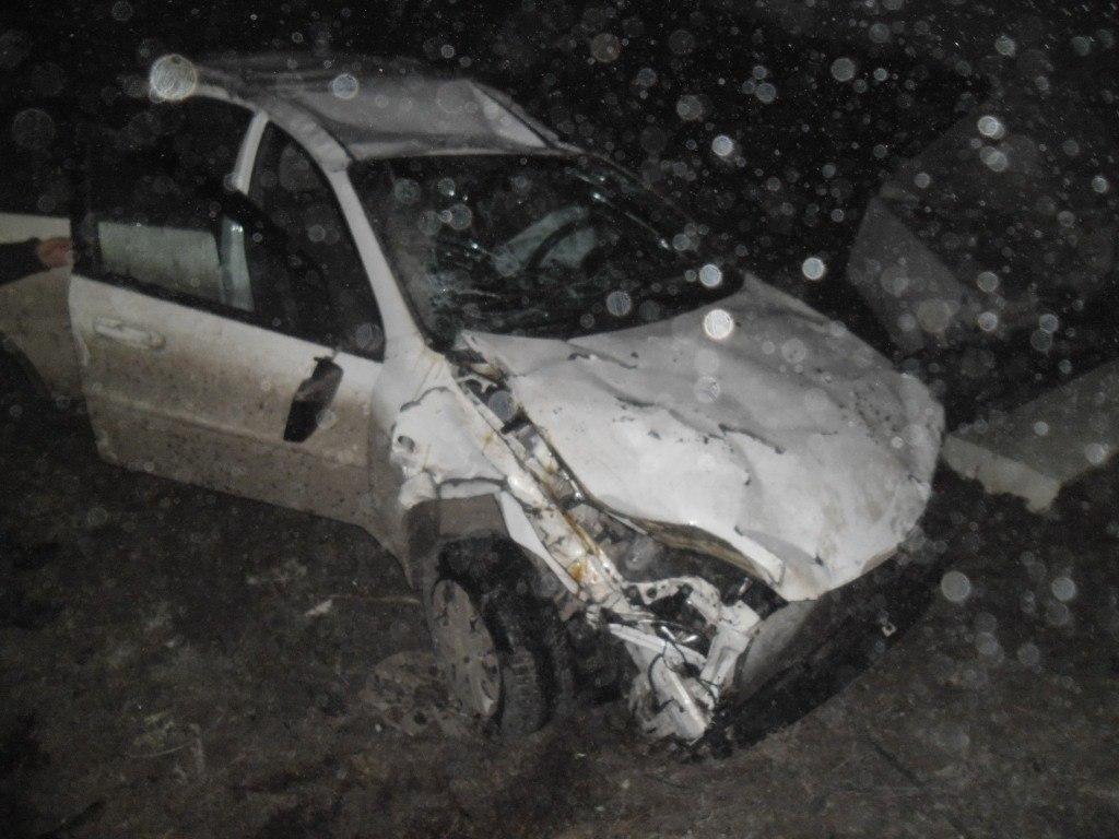 На трассе «Ростов-Таганрог» перевернулась Chevrolet Lacetti