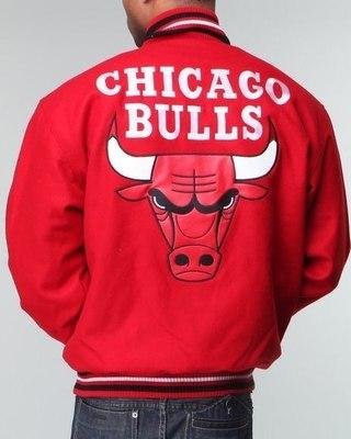 Мужская куртка Nba, Mlb, Nfl Gear Chicago Bulls Wool Jacket.
