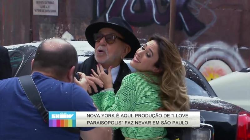 Vídeo Show mostra como produção de 'I Love' fez nevar em SP