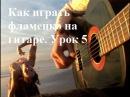 Как играть фламенко на гитаре урок 5 Пикадо