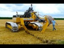 Inter Drain GP Series V plow laying trenchless field drainage Van Damme Drainage