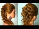 Вечерняя прическа на длинные волосы. Wedding prom hairstyle tutorial