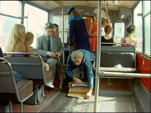 Маски в троллейбусе
