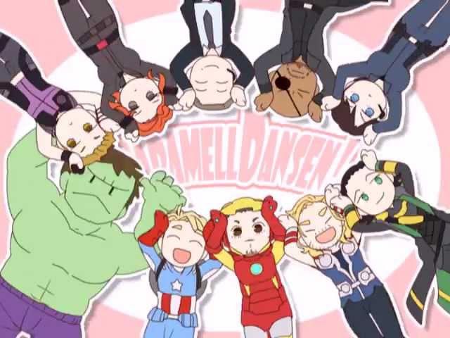 Avengers Caramelldansen★ウッーウッーウマウマ ゚ ∀゚