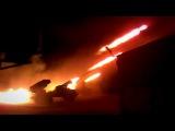 Грады ДНР ведут огонь по силам АТО - Ukraine Grad militias firing