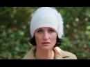 Шапка спицами ДИАГОНАЛЬ, из 1-й петли, с мехом. Как носить шапочку. Вязаные шапки спицами