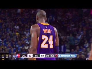 Kobe Bryant Crazy Layup vs GS Warriors!   November 1st , 2014   NBA 2014-15