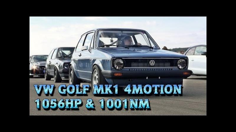 VW Golf Mk1 1056HP Meschede 2015 9,9s 252kmh street race car