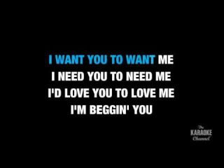 I Want You To Want Me in the Style of Cheap Trick karaoke video with lyrics (no lead vocal)